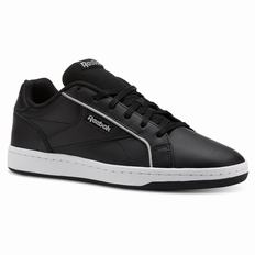 Reebok Royal Complete Clean Womens Black/White/Silver Sneakers (574ZEMUJ)